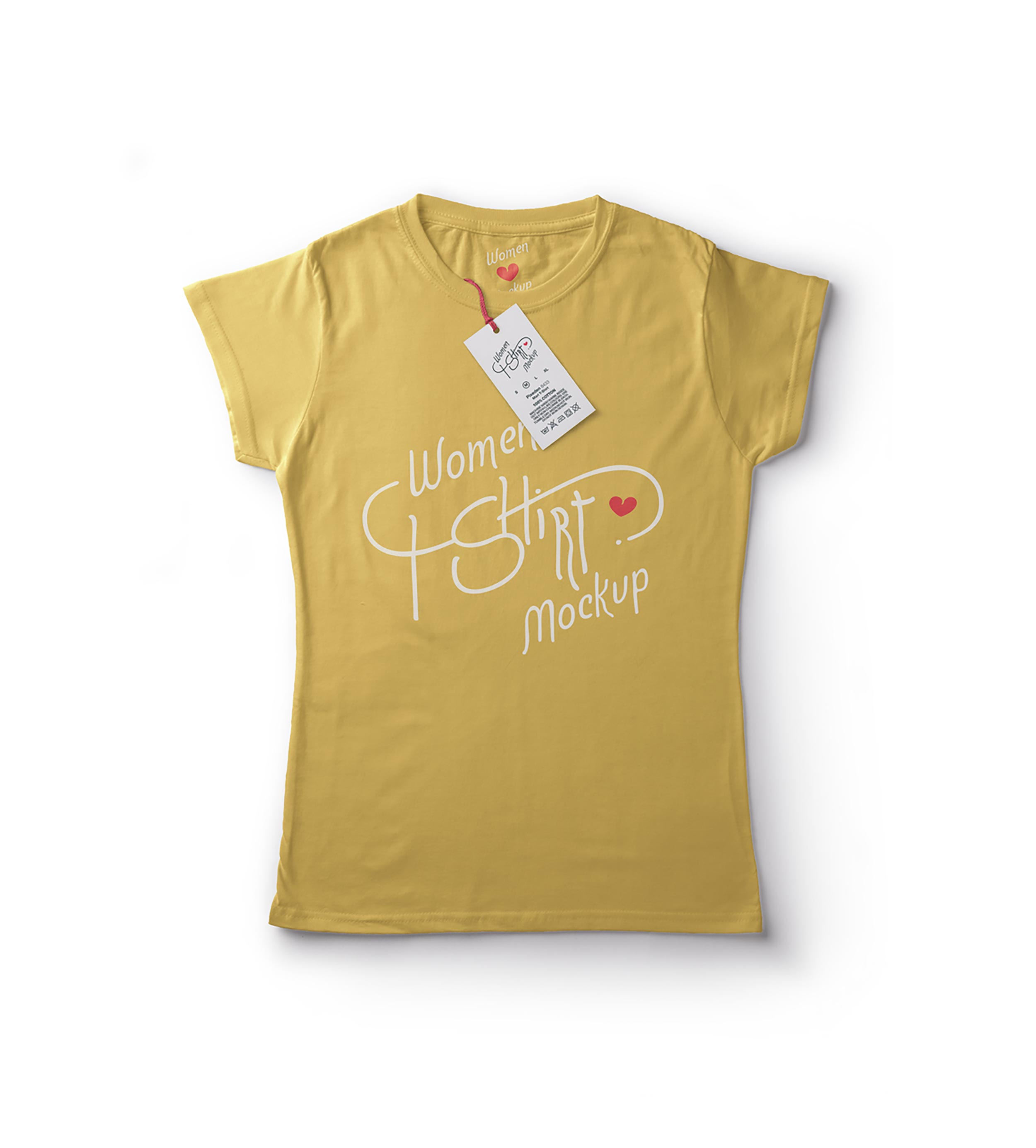 tee shirt women yellow